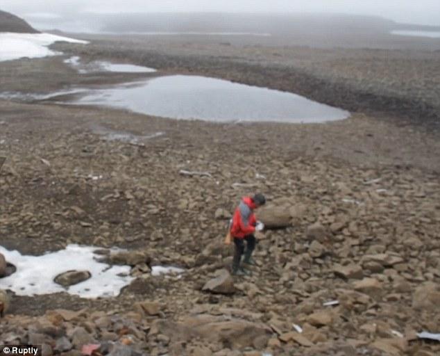 Základna Lovec pokladů, kterou založili v Arktidě nacisté, sloužila oficiálně jako meteorologická stanice, ale jak napovídá název, nebylo to jejím hlavním posláním... Foto Ruptly